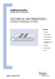 Technical Information for Storage, Finishing and Fitting